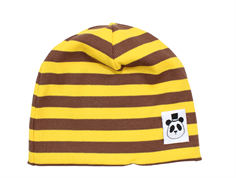 Mini Rodini beanie stripe rib yellow