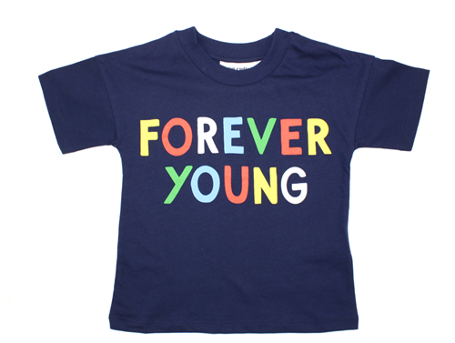 Mini Rodini t-shirt navy forever young