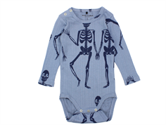 Mini Rodini body blue skeleton
