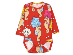 Mini Rodini body seahorse red