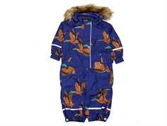 Mini Rodini snowsuit Kebnekaise ducks navy