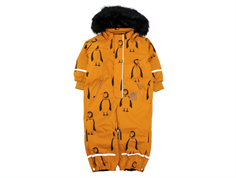 Mini Rodini snowsuit Kebnekaise brown penguin