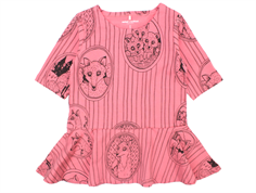 Mini Rodini fox family dress pink