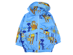 Mini Rodini transition jacket light blue cool monkey