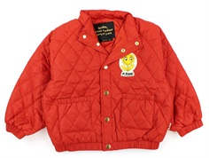 Mini Rodini transition jacket Diamond quilted red