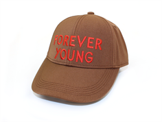 Mini Rodini cap forever young brown