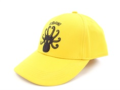 Mini Rodini cap octopus yellow