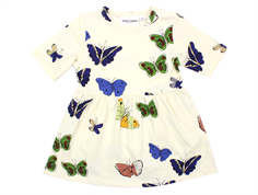 Mini Rodini dress off white butterflies