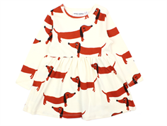 Mini Rodini dress dog off-white