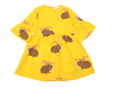 Mini Rodini dress guinea pig yellow