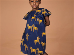 Mini Rodini dress horse navy