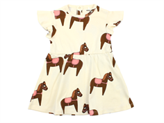 Mini Rodini dress horse pink/off-white