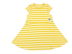 Mini Rodini dress rib yellow stripe