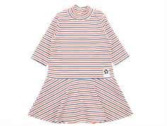 Mini Rodini dress stripe rib off-white