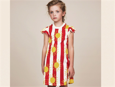 Mini Rodini dress sun stripe red