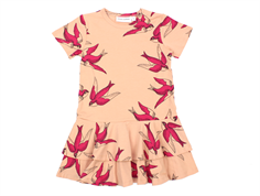 Mini Rodini dress swallows pink