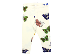 Mini Rodini leggings off white butterflies