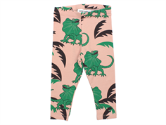 Mini Rodini leggings draco green/rose lizards