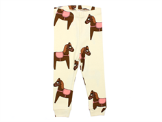 Mini Rodini leggings horse pink/off-white