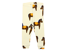 Mini Rodini leggings horse yellow/off-white