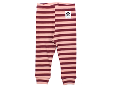 Mini Rodini leggings stripe rib pink