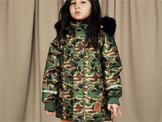 Mini Rodini winter jacket parka camo green