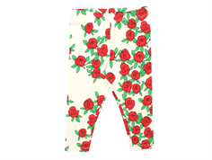 Mini Rodini rose leggings off white