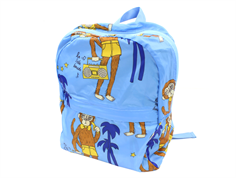 Mini Rodini backpack cool monkey light blue
