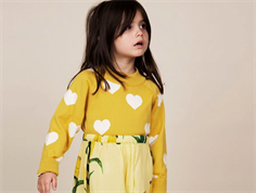 Mini Rodini knit blouse heart yellow