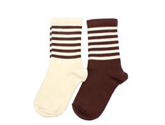 Mini Rodini socks brown (2-Pack)