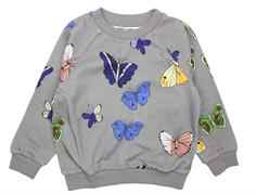 Mini Rodini sweatshirt butterflies dark gray