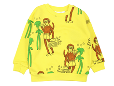 Mini Rodini sweatshirt cool monkey yellow
