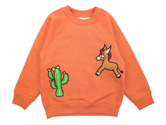 Mini Rodini sweatshirt donkey cactus orange