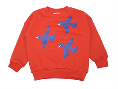 Mini Rodini sweatshirt flying birds red