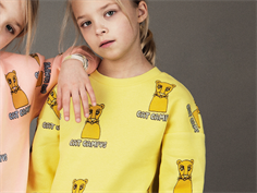 Mini Rodini sweatshirt yellow cat campus