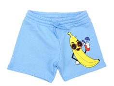 Mini Rodini sweat shorts banana light blue