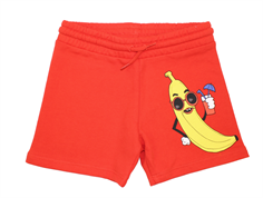 Mini Rodini sweat shorts banana red