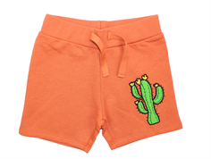 Mini Rodini sweat shorts cactus orange