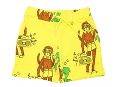 Mini Rodini sweat shorts cool monkey yellow