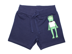 Mini Rodini sweat shorts frog navy