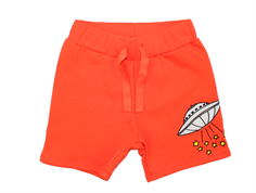 Mini Rodini sweat shorts UFO red