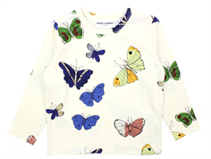 Mini Rodini t-shirt off white butterflies