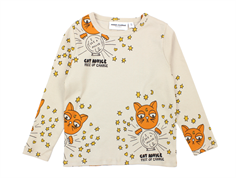 Mini Rodini t-shirt cat advice beige