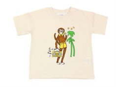 Mini Rodini t-shirt cool monkey off-white
