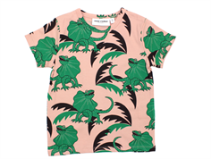 Mini Rodini t-shirt draco green/rose lizards
