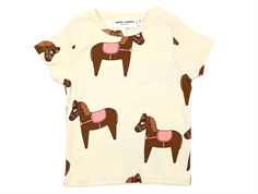 Mini Rodini t-shirt horse pink/off-white