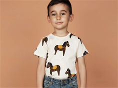 Mini Rodini t-shirt horse yellow/off-white