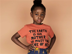 Mini Rodini t-shirt mother earth orange