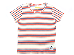 Mini Rodini t-shirt stripe rib off-white