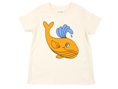 Mini Rodini t-shirt whale off-white
